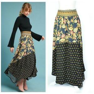 Anthro Farm Rio Yolanda Floral Maxi Skirt - Rare